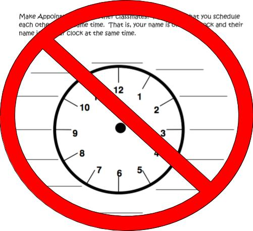 Anti-Appointment Clock