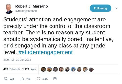 Marzano Tweet